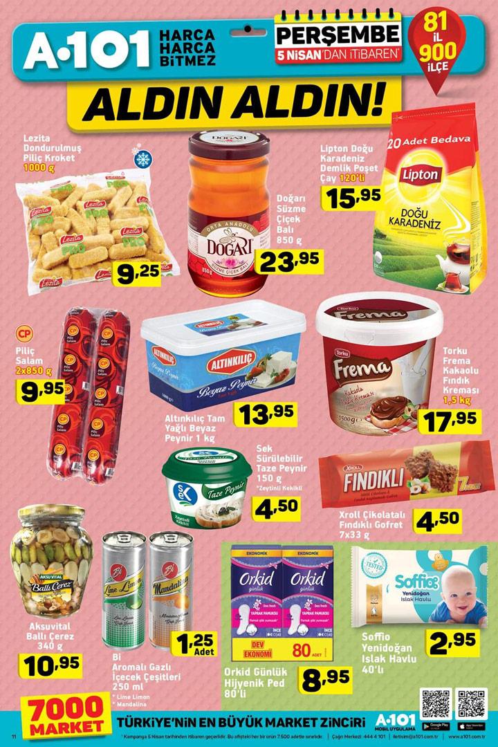 A101 5 Nisan Aldın Aldın Aktüel Gıda Fırsatları