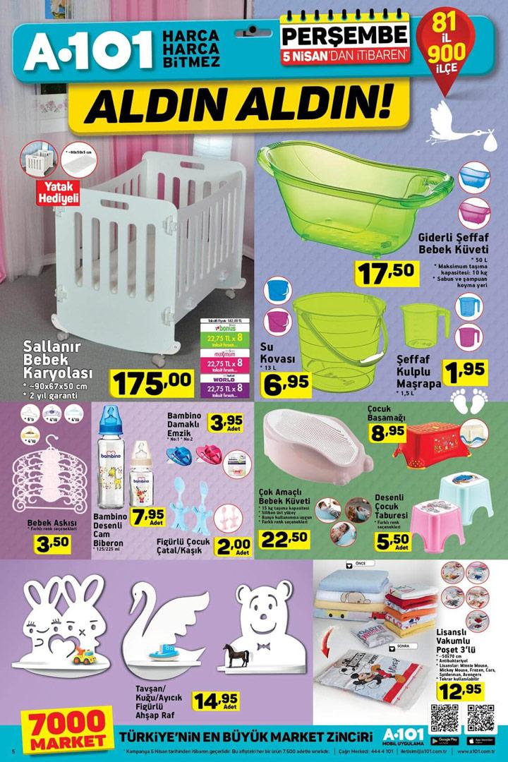A101 5 Nisan Bebek Ürünleri Aktüel Fırsatları