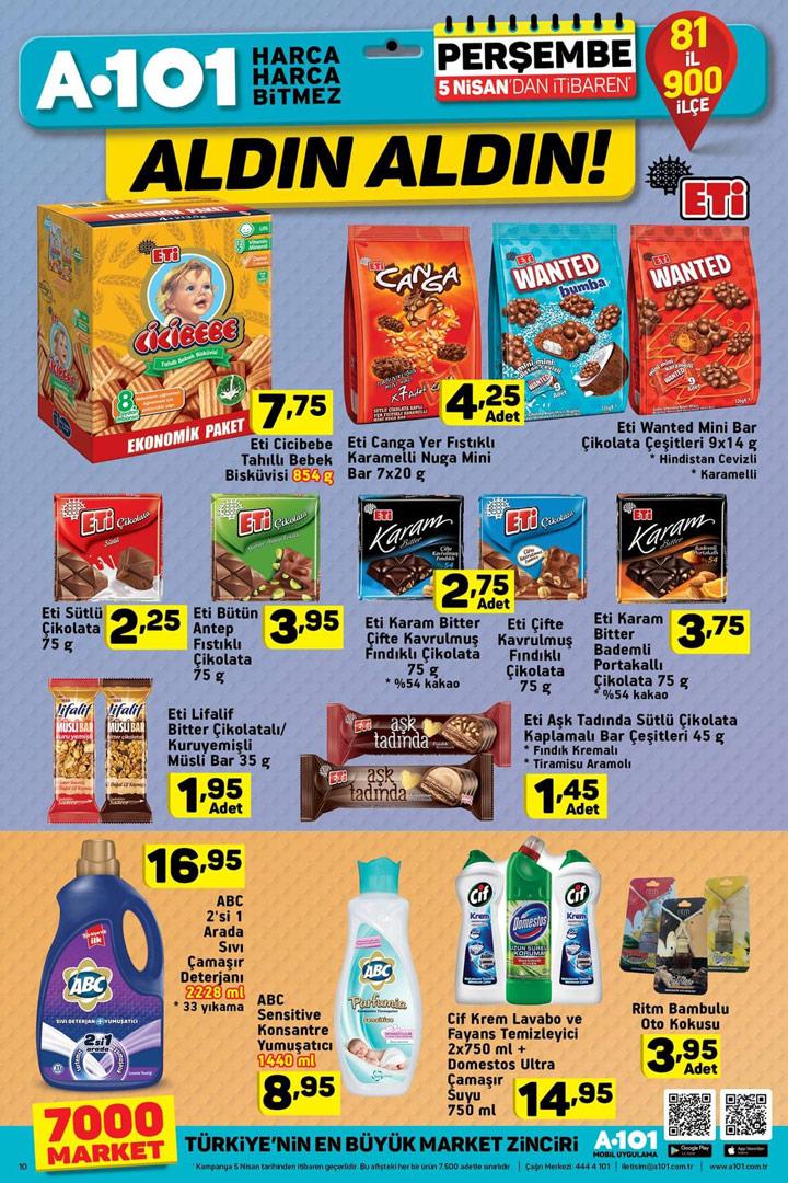 A101 Aktüel 5 Nisan İndirimleri Gıda Katalogları