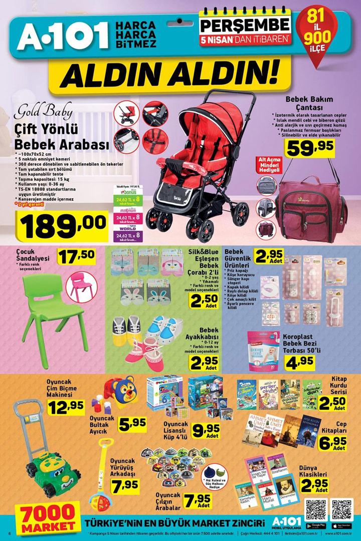 A101 Aktüel Bebek Ürünleri 5 Nisan Fırsatları