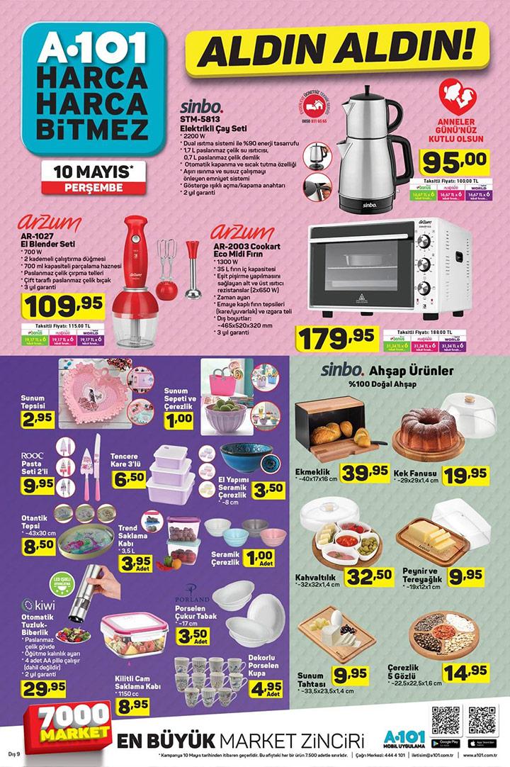 A101 10 Mayıs Mutfak Ürünleri Aktüel İndirimleri