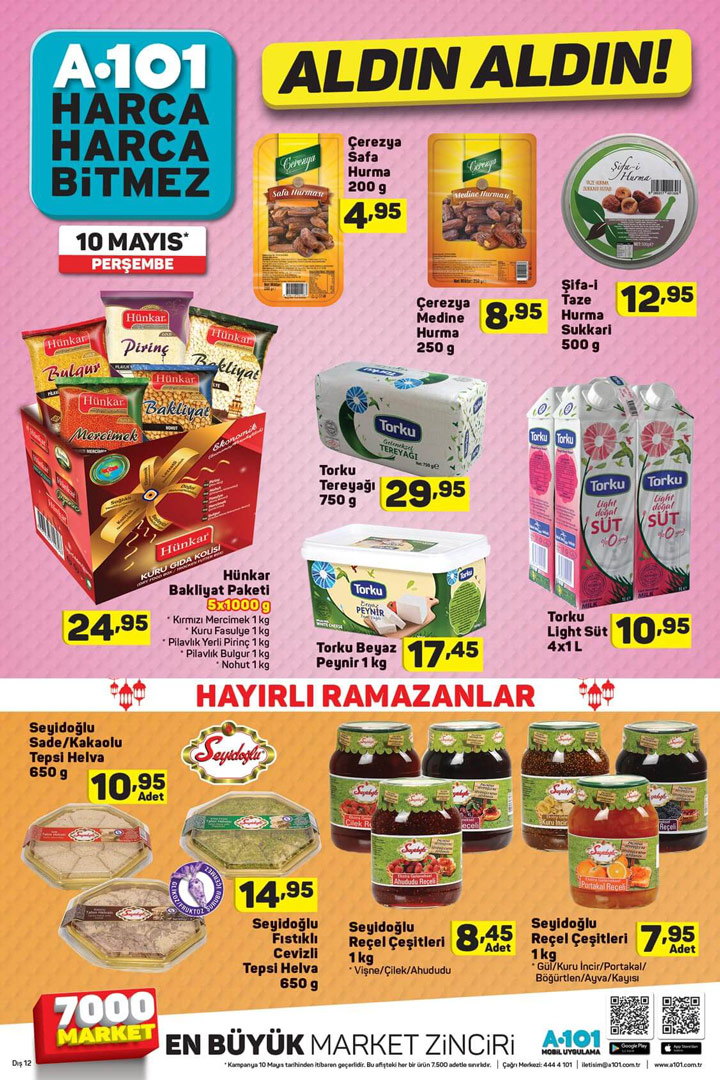 A101 10 Mayıs Ramazan Ayı Özel İlk Katalog