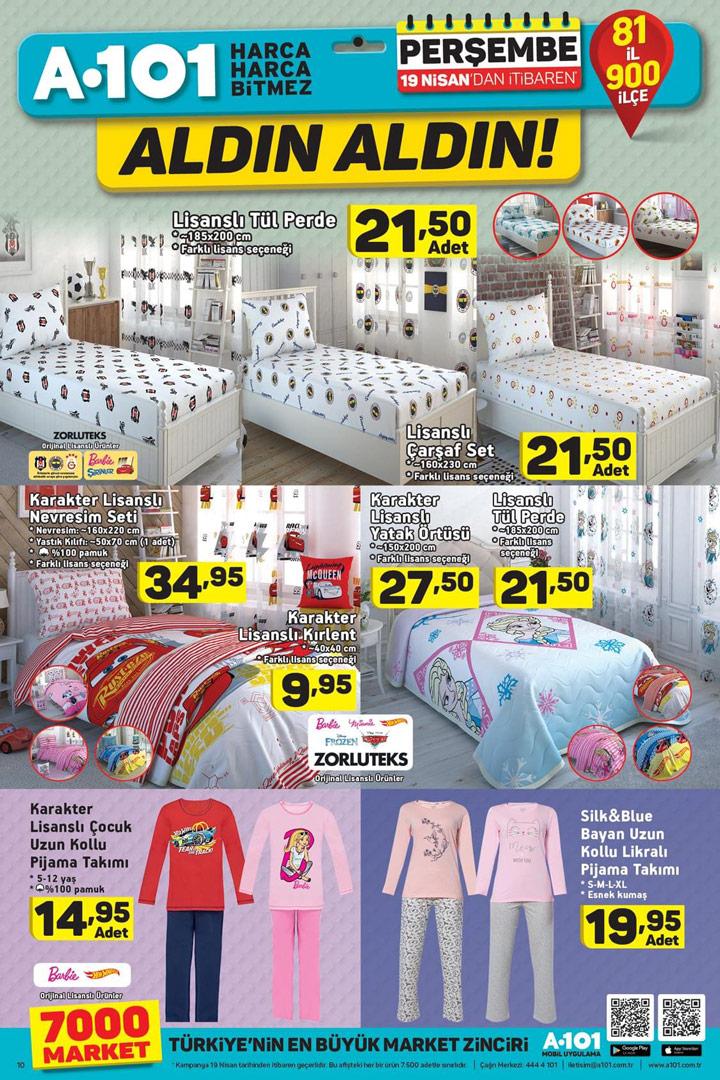 A101 19 Nisan Aktüel Ev Tekstili Kampanyalı Ürünleri