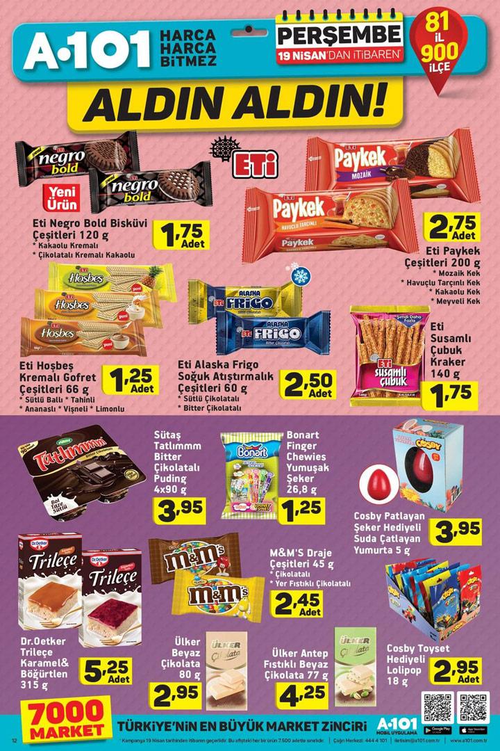 A101 19 Nisan Aldın Aldın Gıda Ürün İndirimleri Sayfası