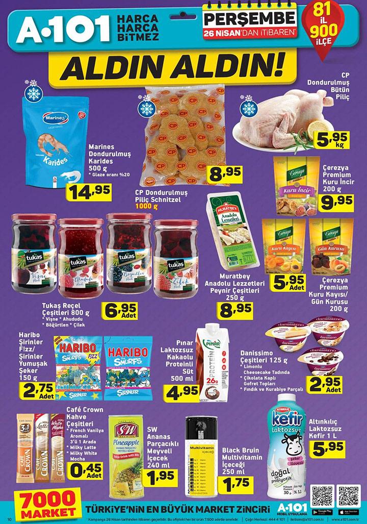 A101 26 Nisan Gıda Fırsatları Yeni Kampanyaları