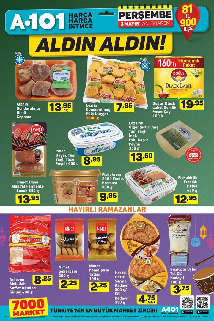 A101 3 Mayıs Aktüel Ürün Gıda Fırsatları Sayfası