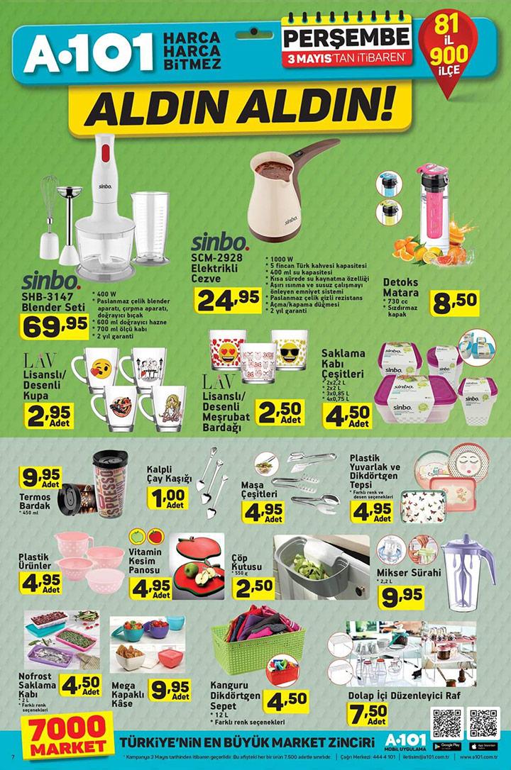 A101 3 Mayıs Aktüel Ürün Kataloğu Perşembe Kampanyası