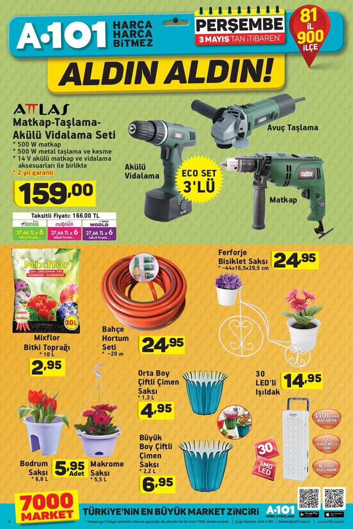 A101 3 Mayıs Bahar Özel İndirimli Ürünleri Sayfası