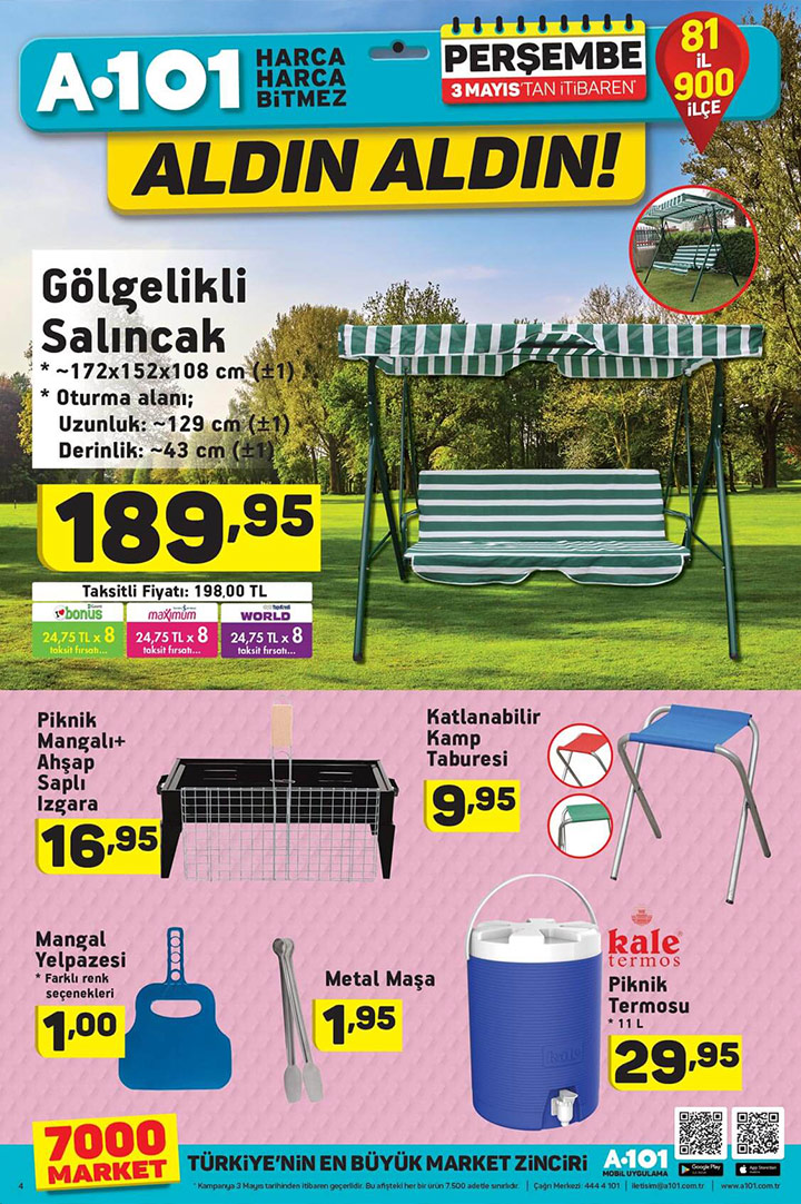A101 3 Mayıs Perşembe Aktüel Piknik Ürünleri