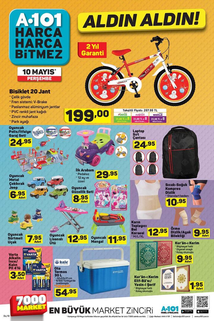 A101 Aktüel 10 Mayıs Bisiklet ve Oyuncak Ürünleri