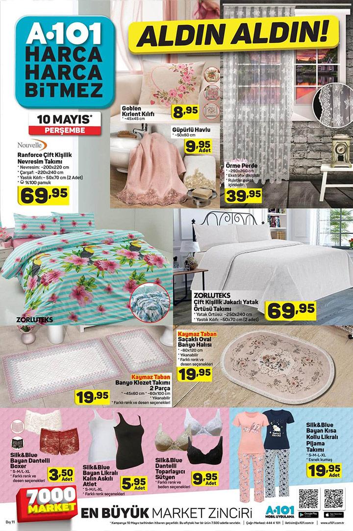 A101 Aktüel 10 Mayıs Ev Tekstili Aldın Aldın Ürünleri
