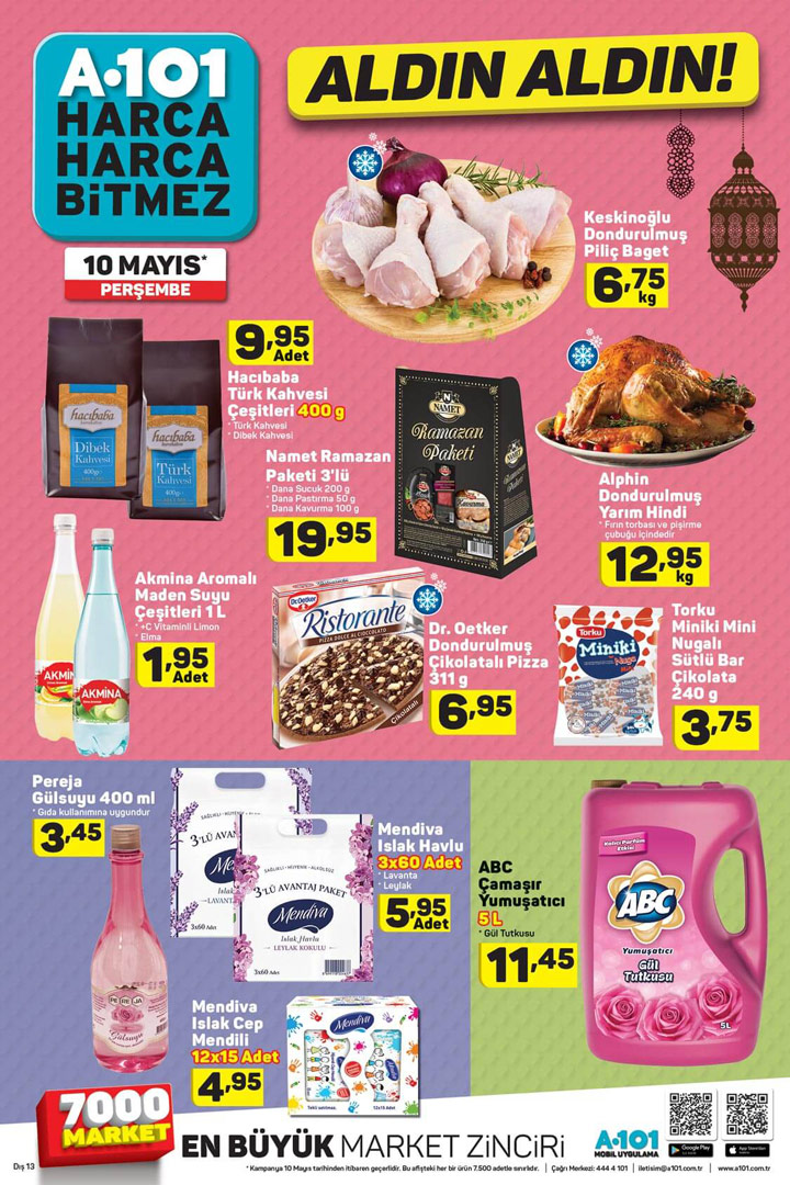 A101 Aktüel 10 Mayıs Perşembe Temizlik ve Gıda Ürünleri