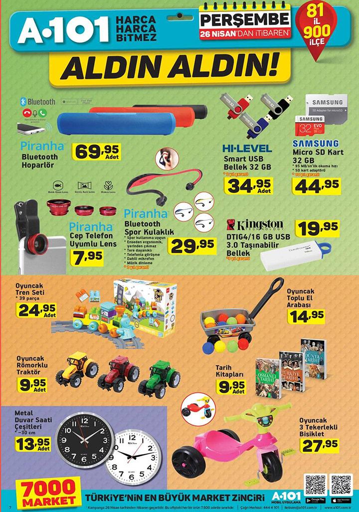 A101 Aktüel 26 Nisan En Yeni Katalog ve Ürünleri