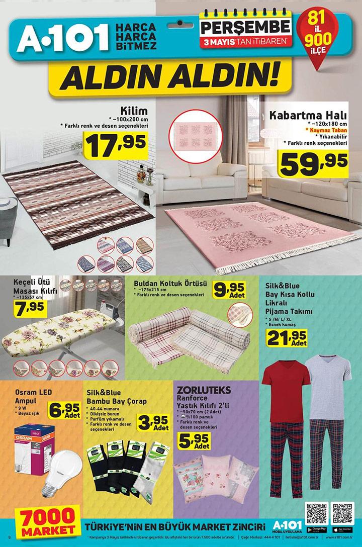 A101 Aktüel 3 Mayıs Ev Tekstili Fırsat Ürünleri