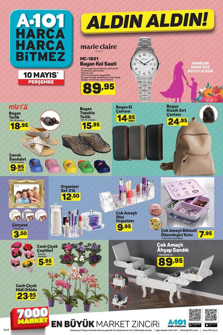 A101 Anneler Günü Özel Ürünleri – 10 Mayıs Aktüel