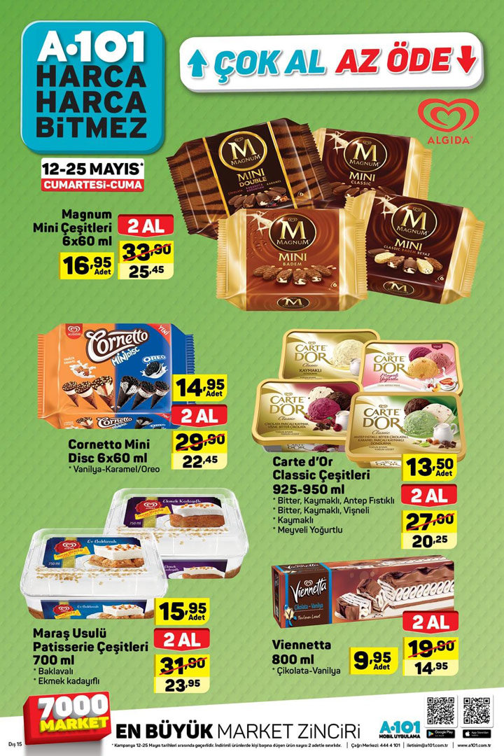 A101 12 Mayıs – 25 Mayıs Aktüel Ürün Kataloğu