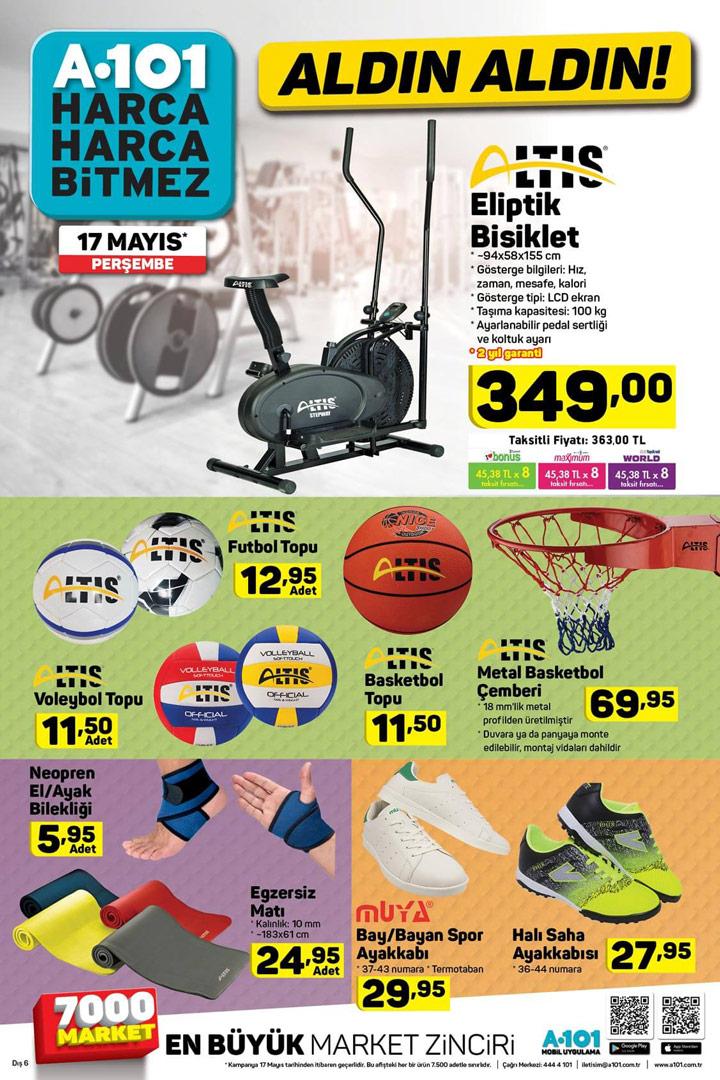 A101 17 Mayıs 2018 – Spor & Egzersiz & Antrenman Aktüel