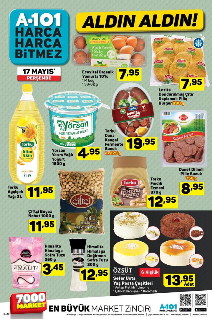 A101 17 Mayıs Aktüel Ürün Gıda İndirimleri Sayfası
