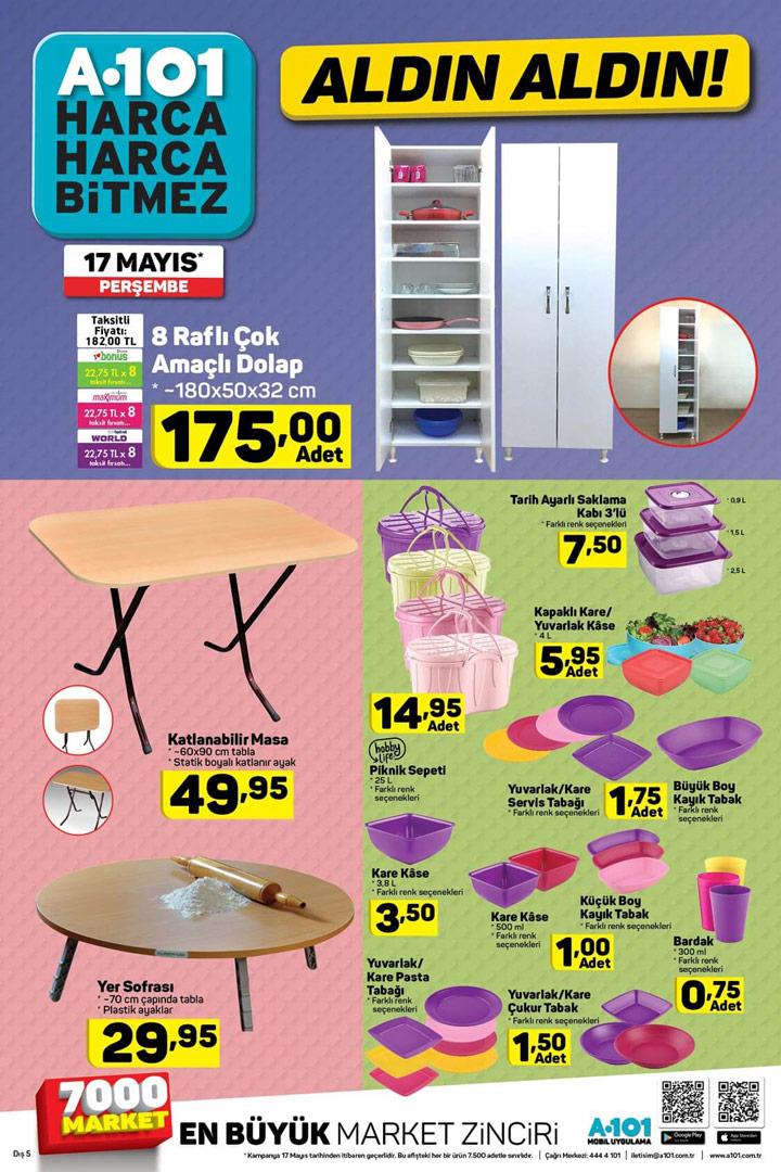 A101 17 Mayıs Perşembe Kataloğu – Mutfak Aktüel Ürünleri