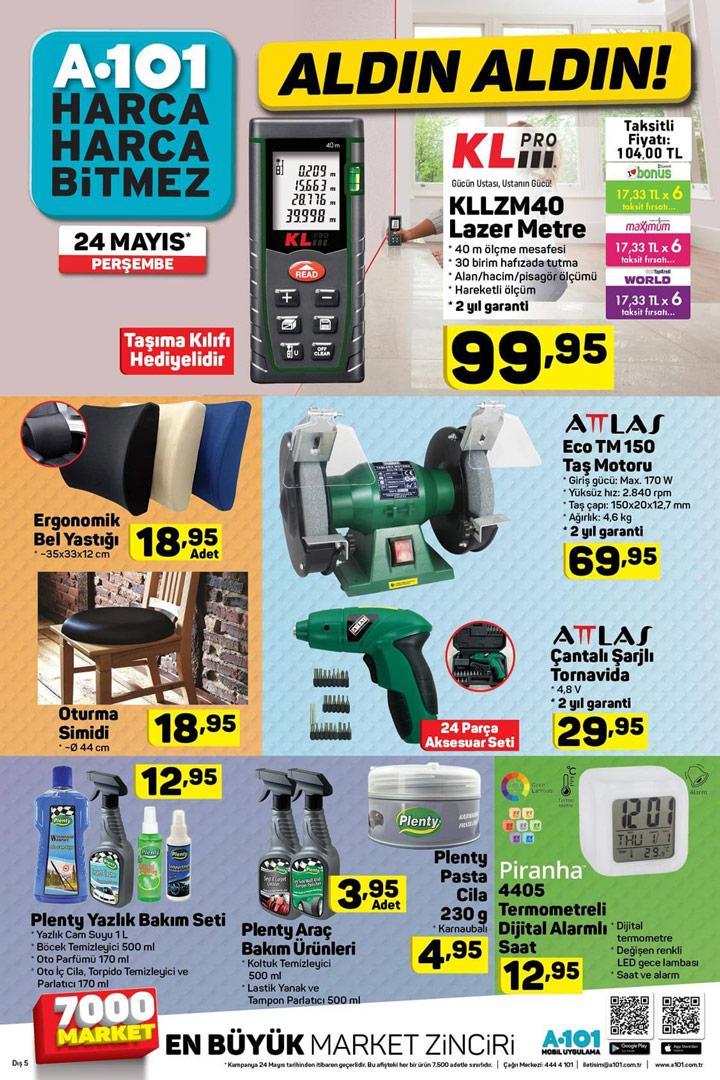 A101 24 Mayıs Aktüel Ürün Fırsat Kampanyaları