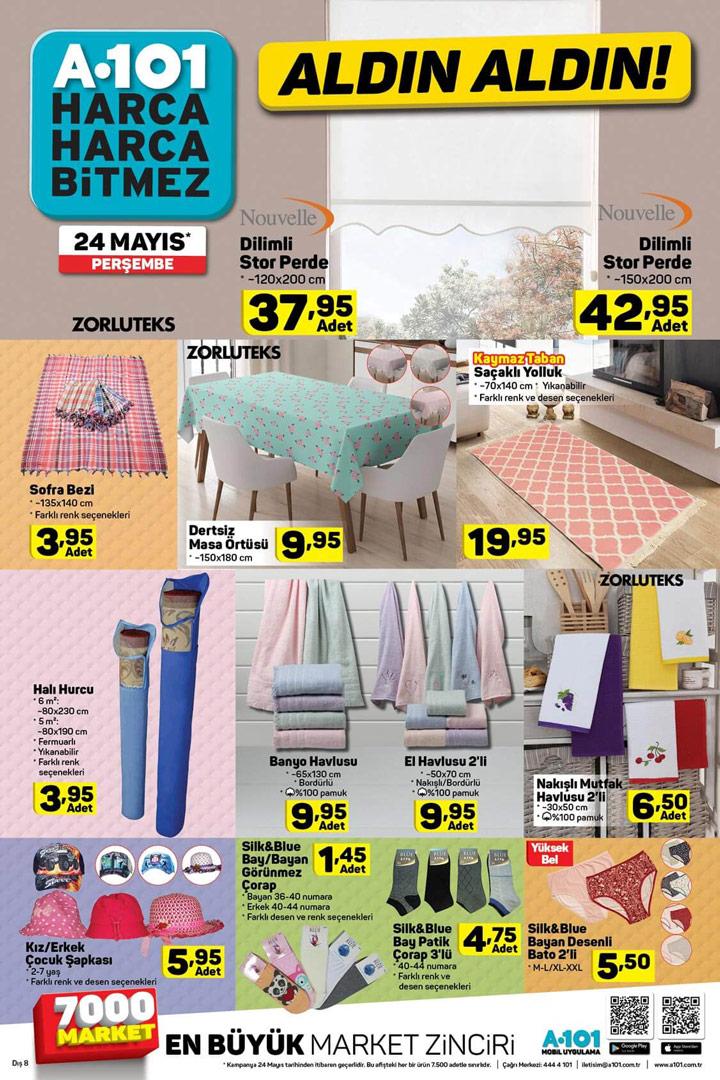 A101 24 Mayıs Aktüel Ürünleri Ev Tekstili İndirimleri
