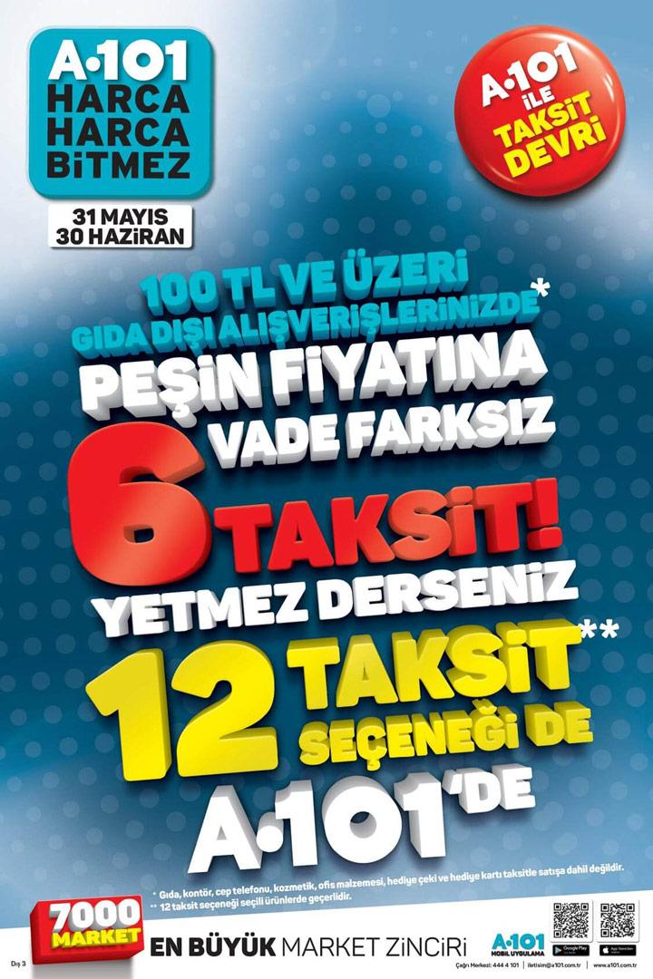 A101 31 Mayıs & 30 Haziran Taksit Devri Aktüel Kampanyası