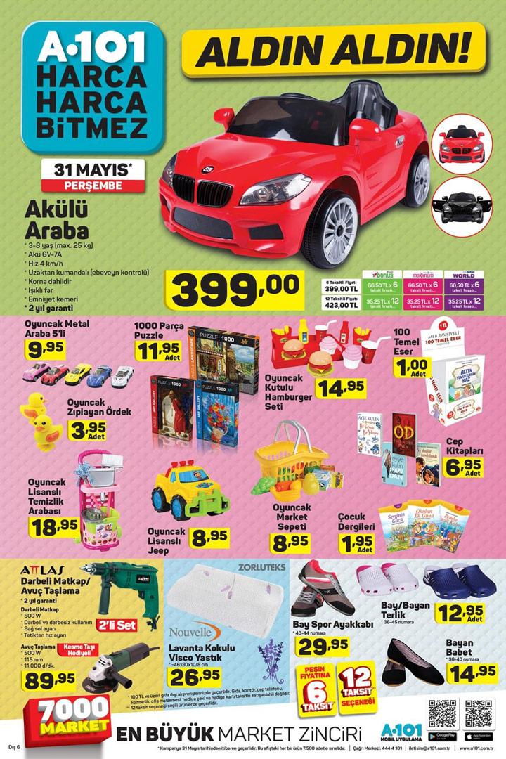 A101 31 Mayıs Akülü Araba Aktüel Ürün Sayfası