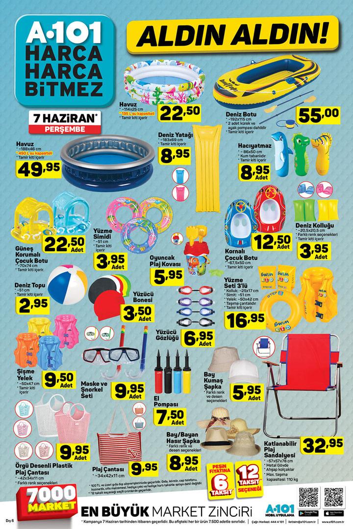 A101 7 Haziran Kataloğu Tatil ve Plaj Ürünleri