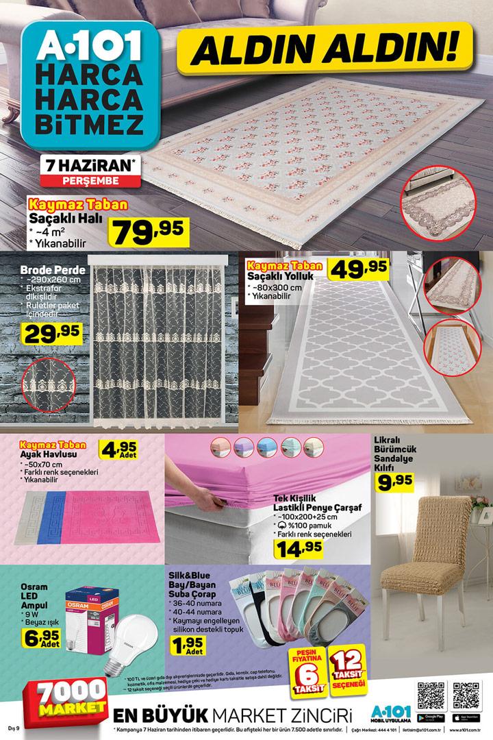 A101 7 Haziran Perşembe Ev Tekstili Aktüel Ürünleri