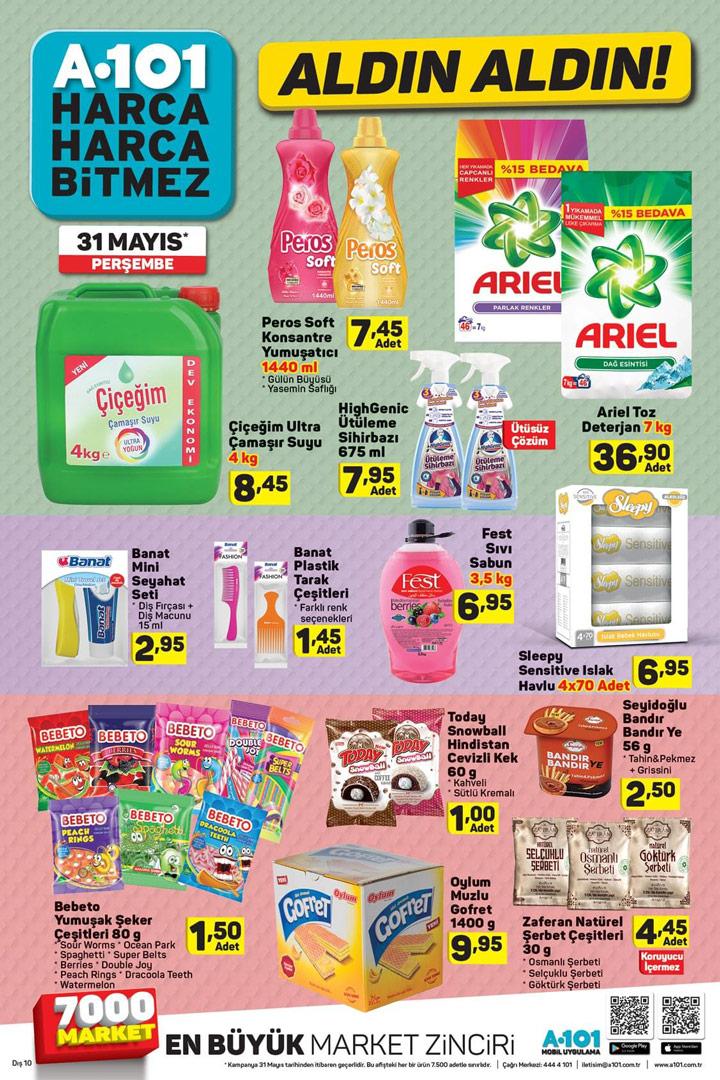 A101 Aktüel 31 Mayıs Aldın Aldın Temizlik Spot Ürünleri