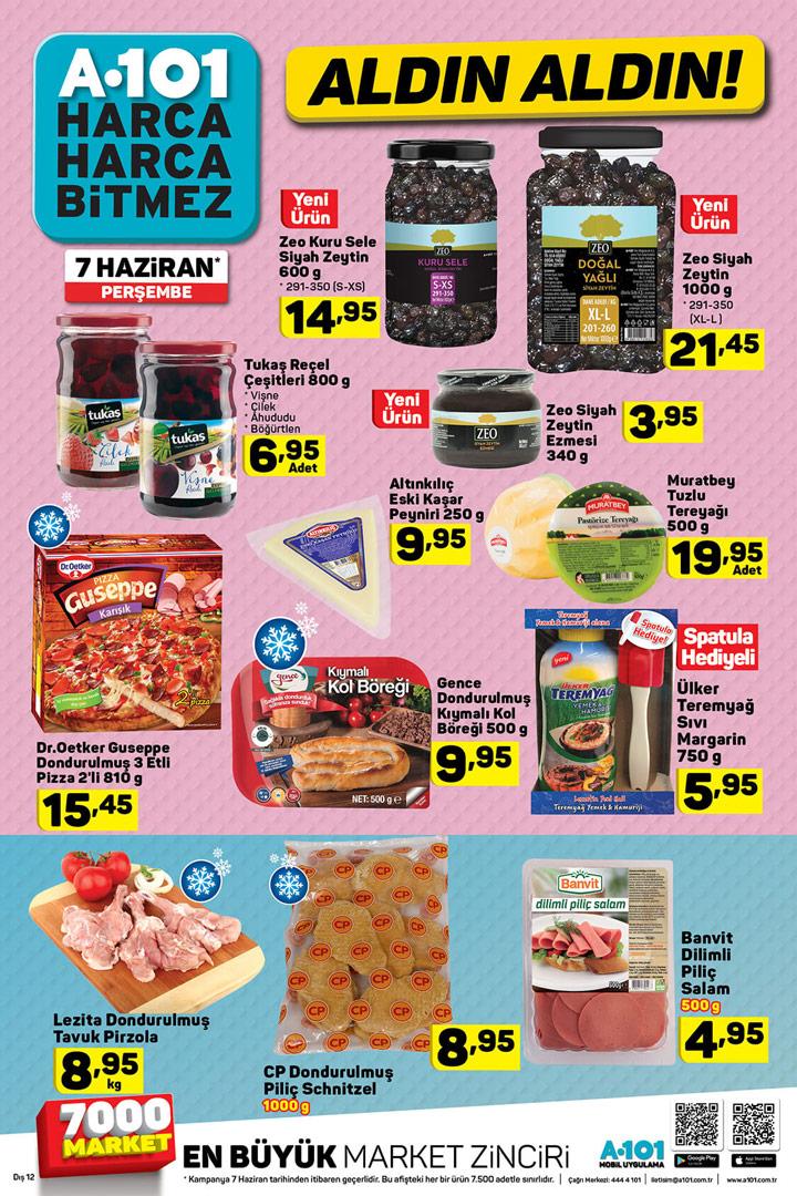 A101 Aldın Aldın 7 Haziran Aktüel Ürün Gıda Fırsatları