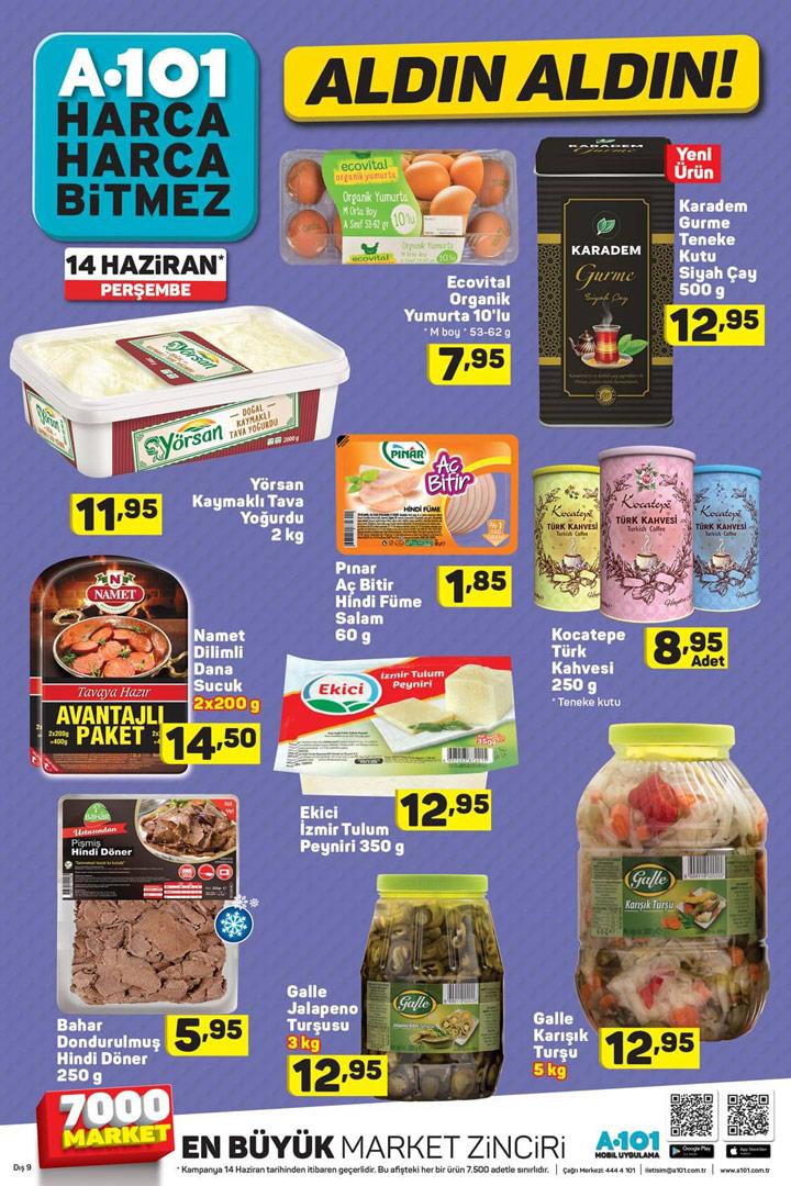 A101 14 Haziran Aktüel Gıda Ürünleri Aldın Aldın Broşürü