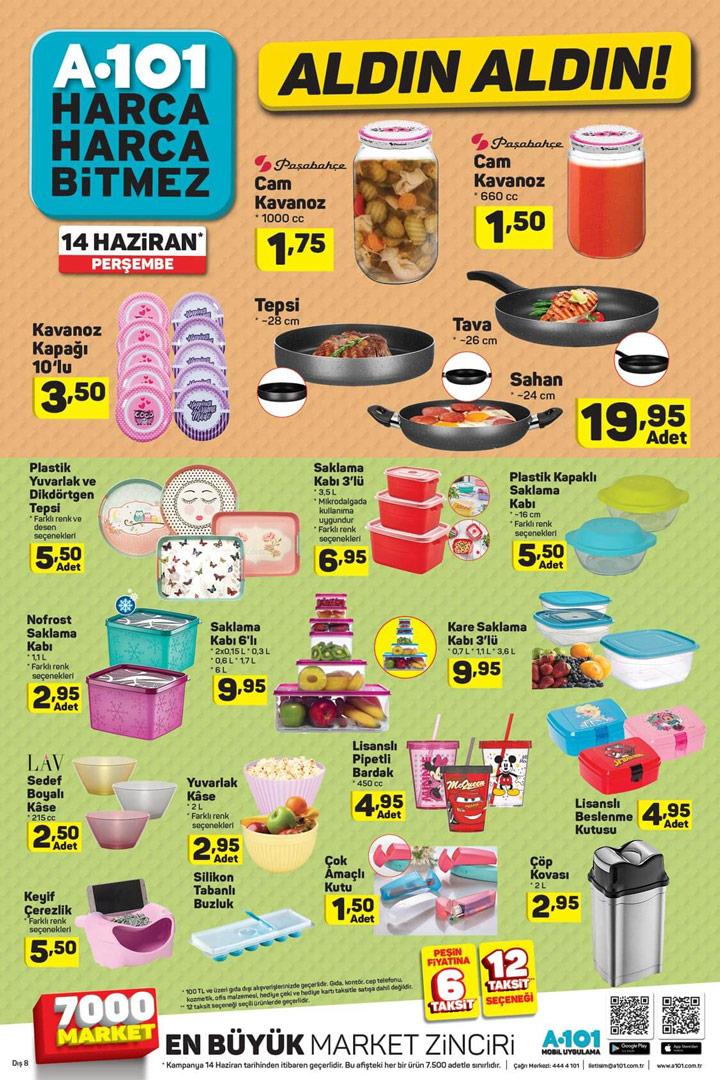 A101 14 Haziran Mutfak Ürünleri Aktüel Perşembe Kataloğu