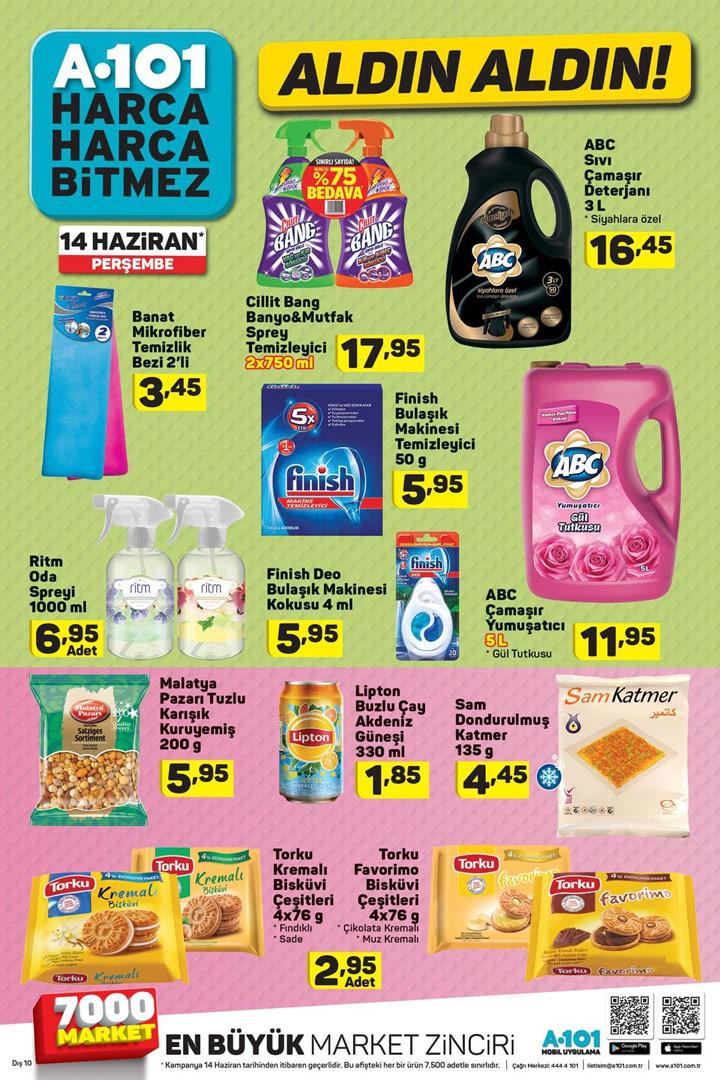 A101 14 Haziran Temizlik Ürünleri İndirimli Aldın Aldın Sayfası