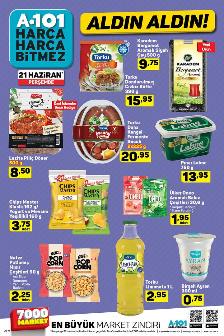 A101 21 Haziran Gıda Ürünü Fırsatları Aktüel Kampanyası