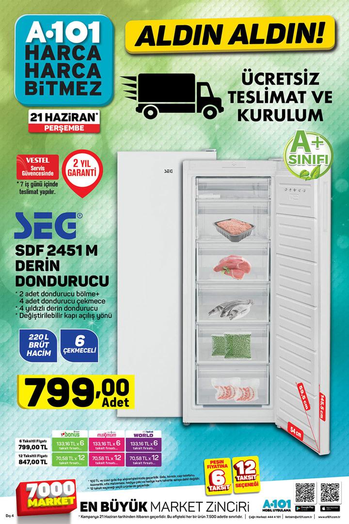 A101 21 Haziran & SEG SDF 4251M Derin Dondurucu