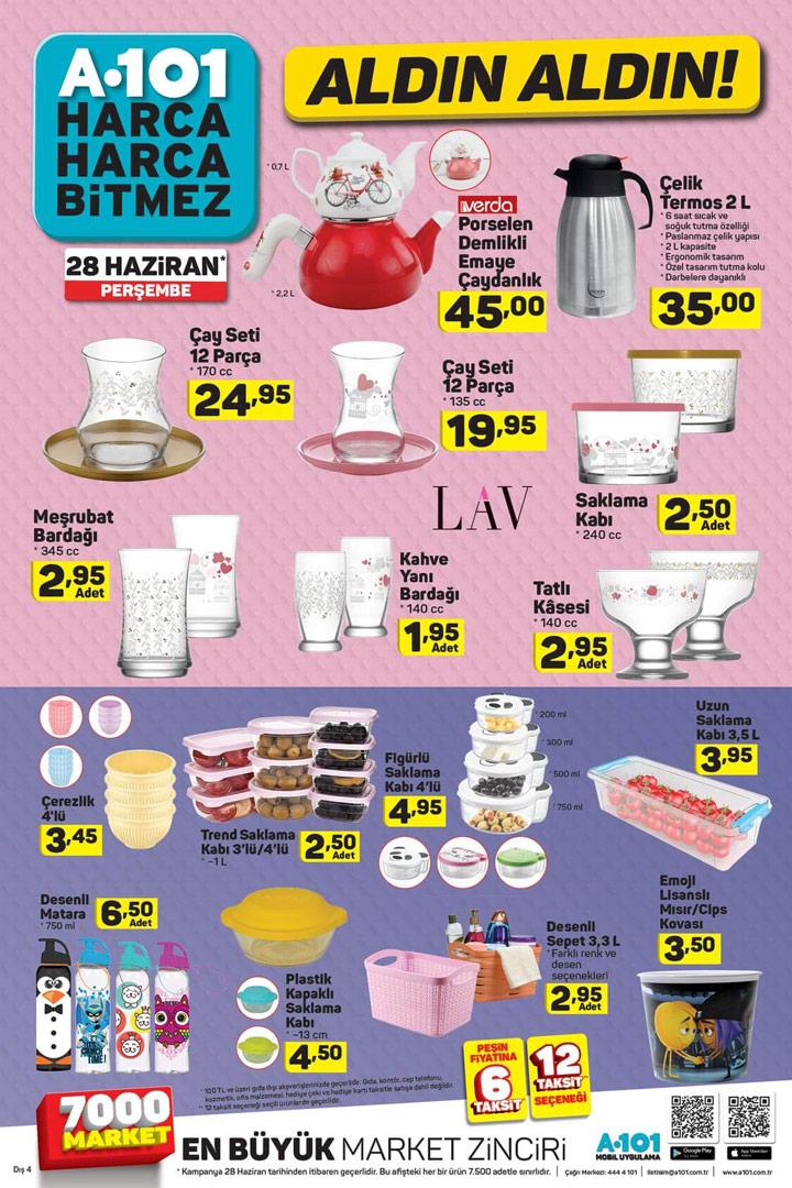 A101 28 Haziran Aldın Aldın Aktüel Ürün Kataloğu