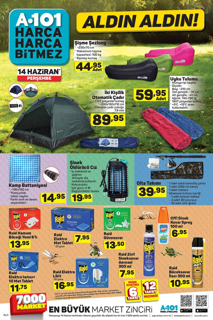 A101 Aktüel, 14 Haziran Kamp Aktüel Ürün Sayfası