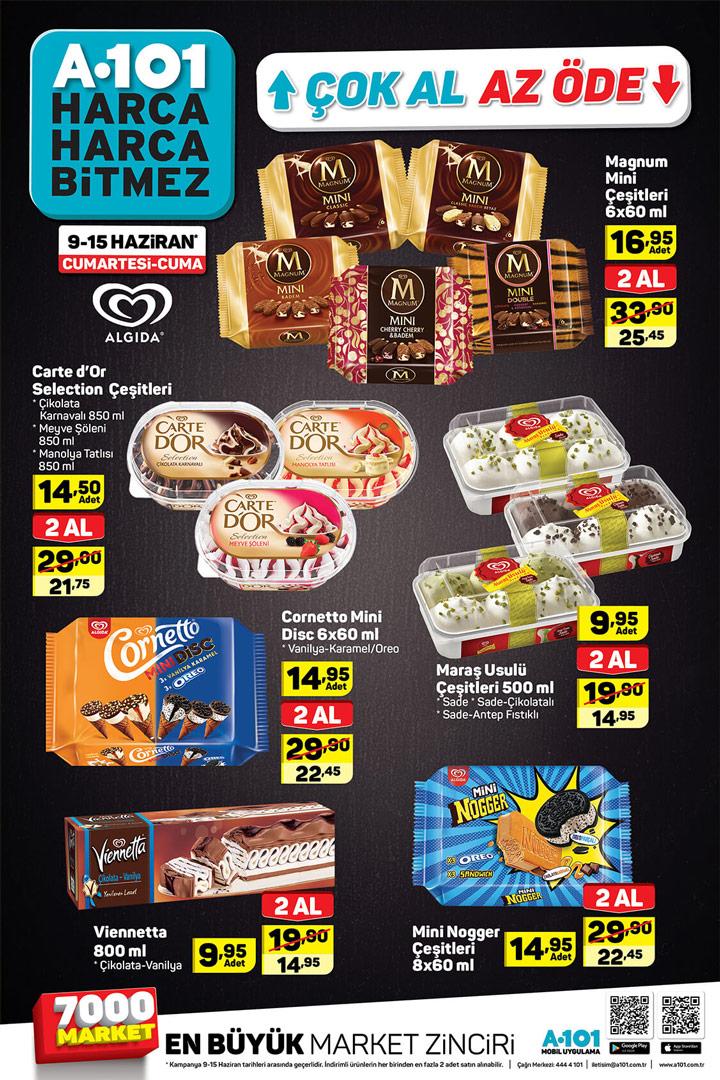 A101 Dondurma 9 Haziran – 15 Haziran Aktüel Ürün İndirimleri