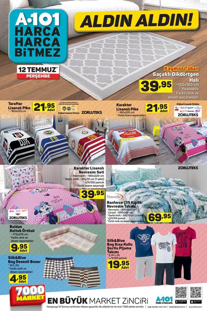 12 Temmuz A101 Aktüel Ürünleri Ev Tekstili Fırsatları İncelemesi