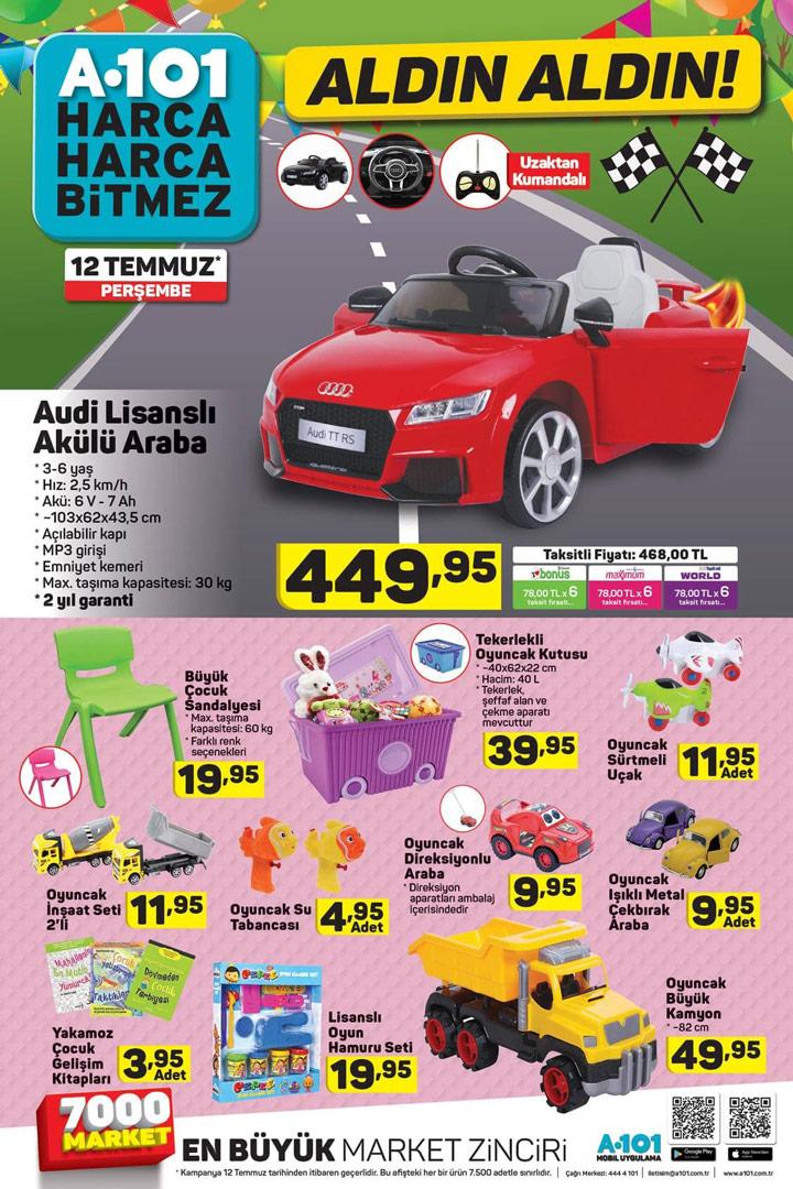 A101 12 Temmuz Akülü Araba ve Oyuncak Aktüel Ürünleri