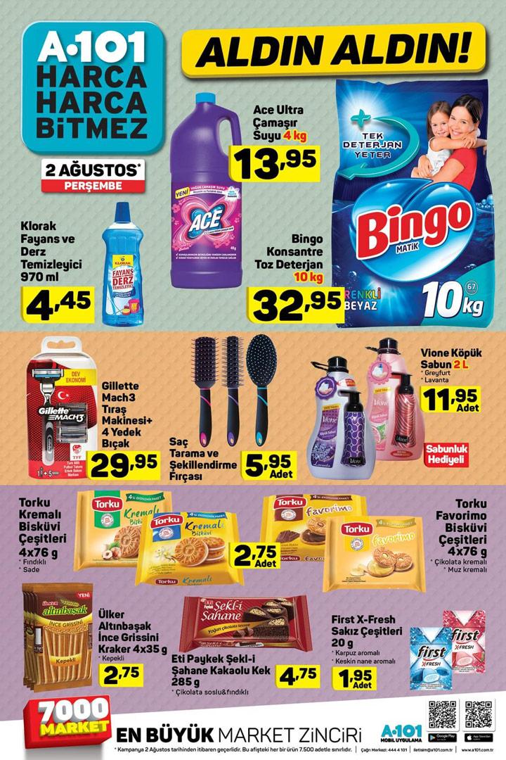 A101 2 Ağustos Gıda ve Temizlik Aktüel Ürün Liste İncelemesi