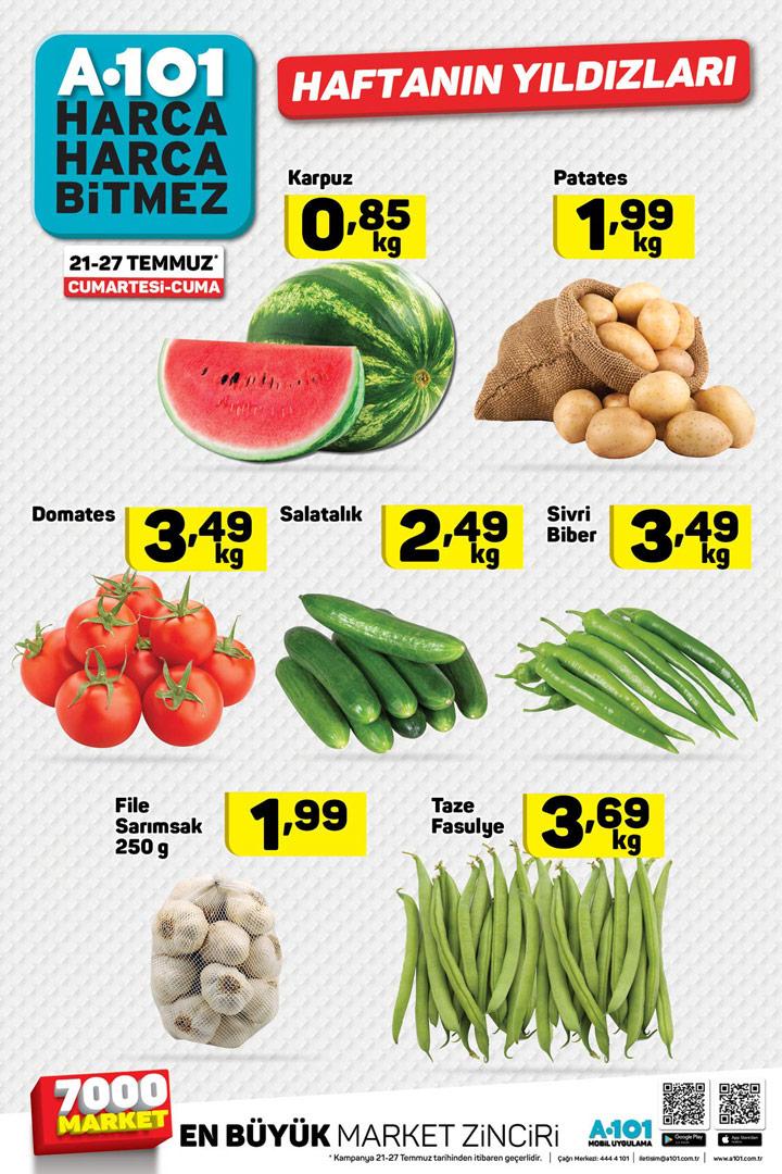 A101 21 Temmuz Hafta Sonu Özel Ürünler Sayfası