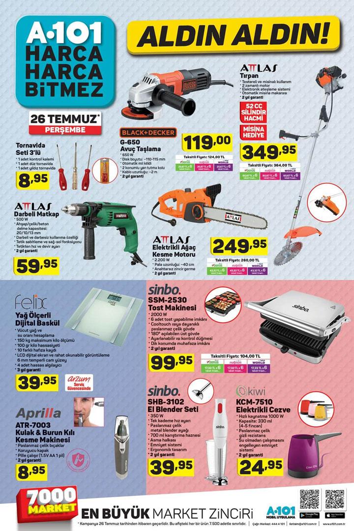 A101 26 Temmuz Aktüel Elektronik Ürün İndirimleri Listesi