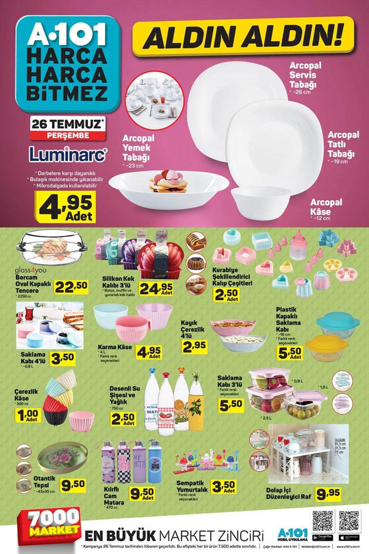 A101 26 Temmuz Mutfak Ürünleri Aktüel Ürün Kampanyası