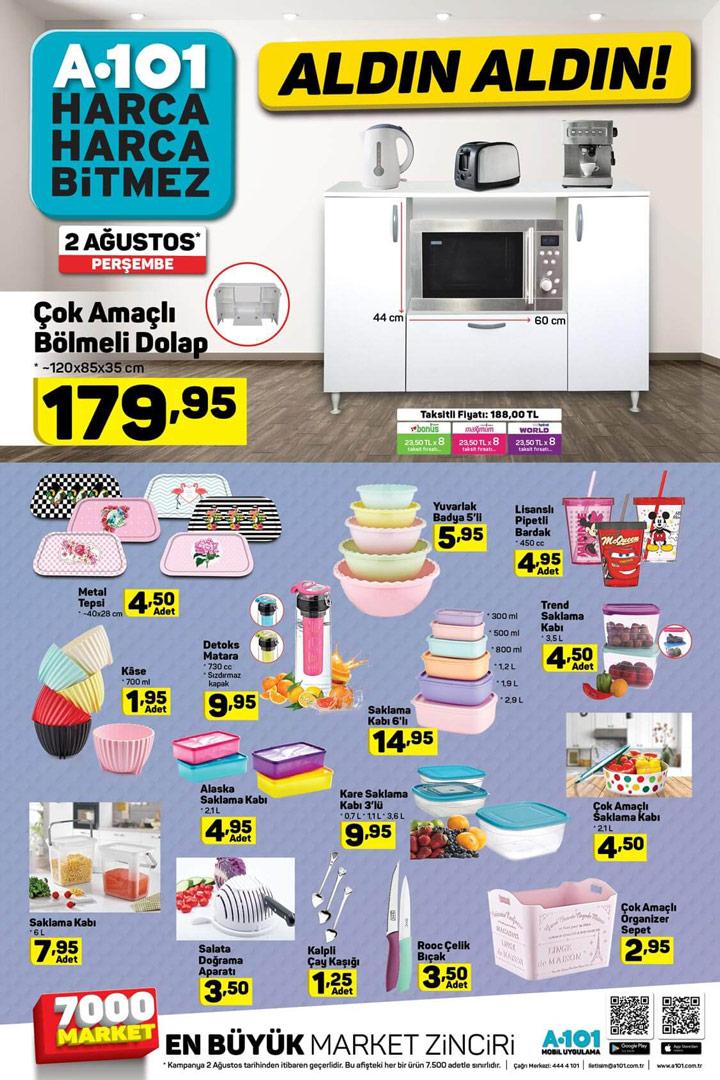 A101 AKTÜEL, 2 Ağustos Aktüel Mutfak Ürünleri Listesi