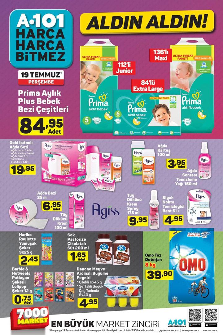 A101 Aldın Aldın 19 Temmuz, Bebek & Bakım % Temizlik Aktüel