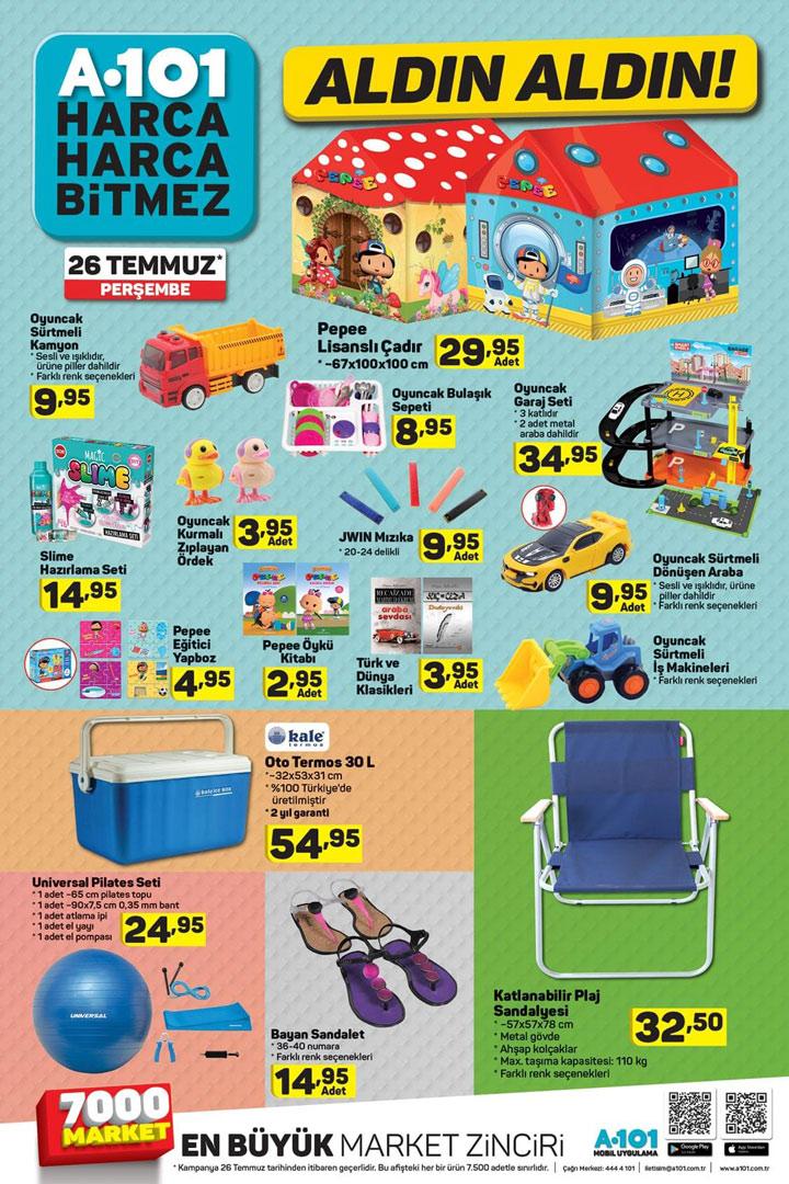 A101 Market, 26 Temmuz Yeni Aktüel Fırsat Detayları