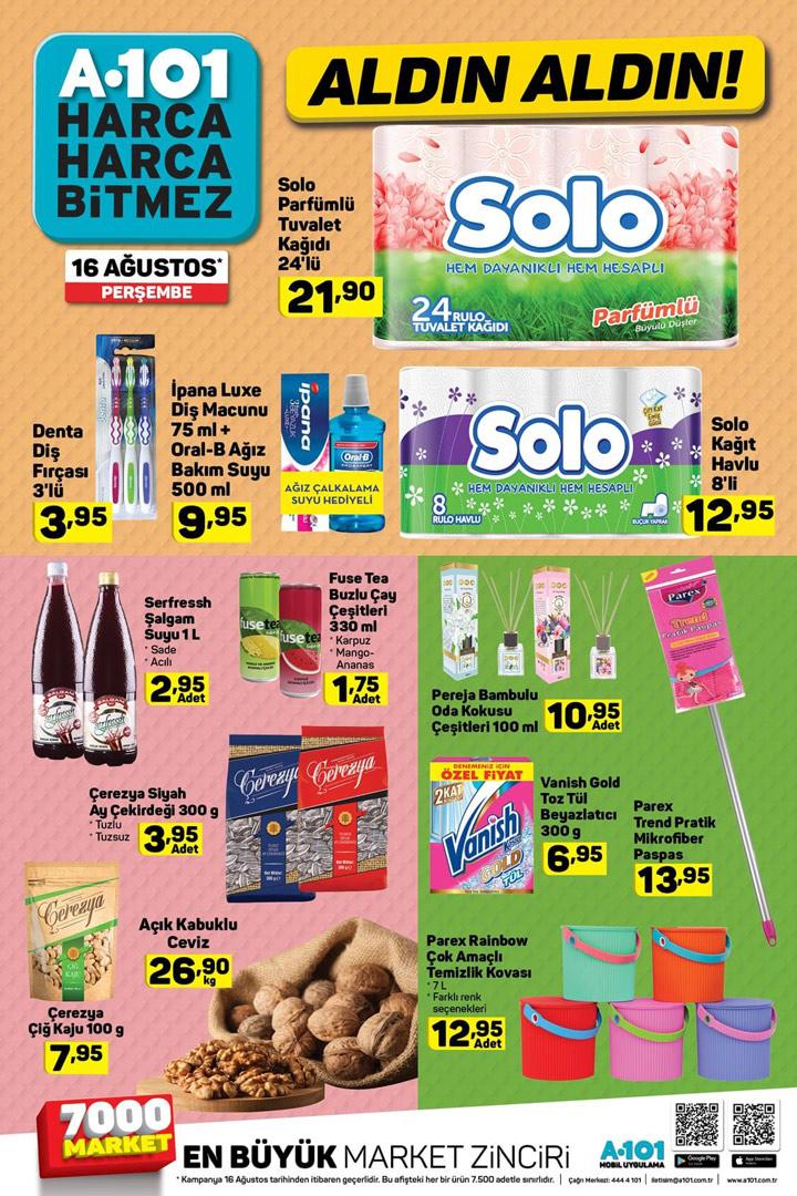 A101 16 Ağustos Aktüel Ürün Fırsatları Perşembe Sayfaları