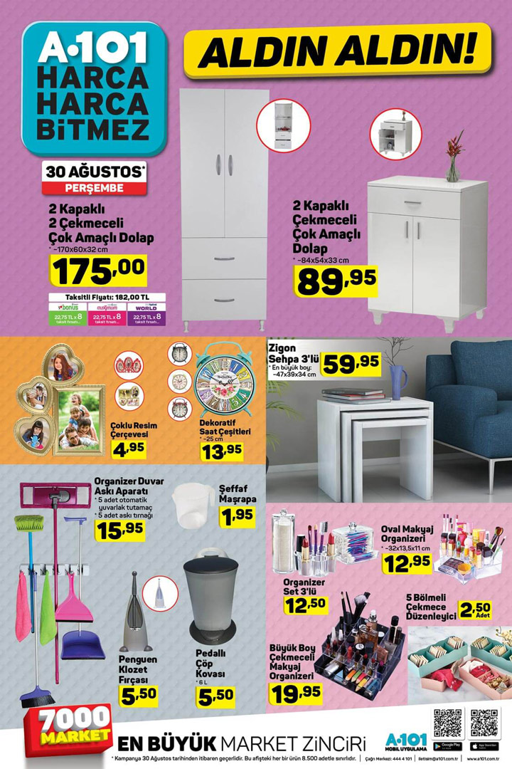 A101 30 Ağustos ALDIN ALDIN Aktüel Ürün Katalogları